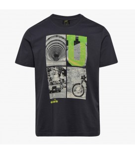 Camiseta negra T-SHIRT GRAPHIC ORGANIC