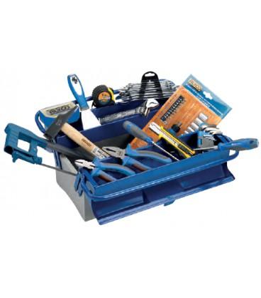 Caja metálica de 3 bandejas con 85 herramientas