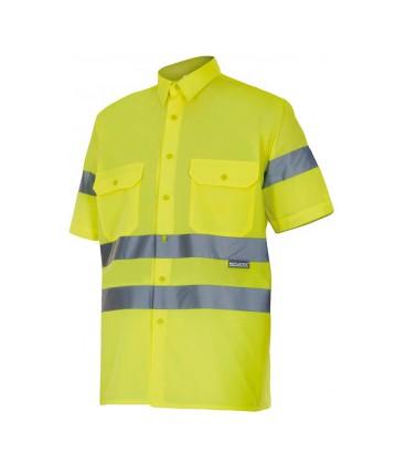 Camisa manga corta alta visibilidad